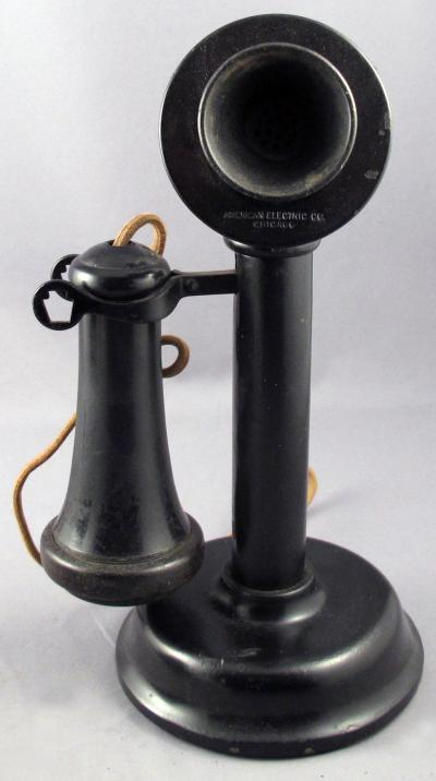 American Electric 1912 Keystone Candlestick Telephone - Front View