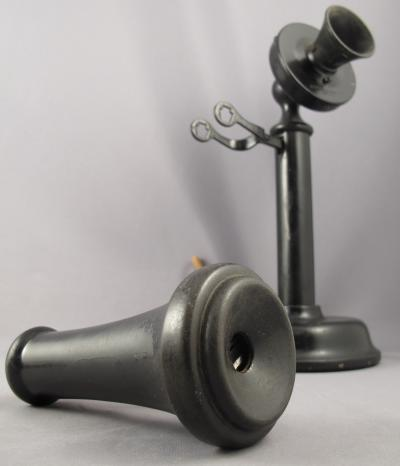 American Electric 1912 Keystone Candlestick Telephone - Receiver View