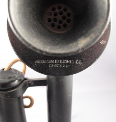 American Electric 1912 Keystone Candlestick Telephone - Stamp View