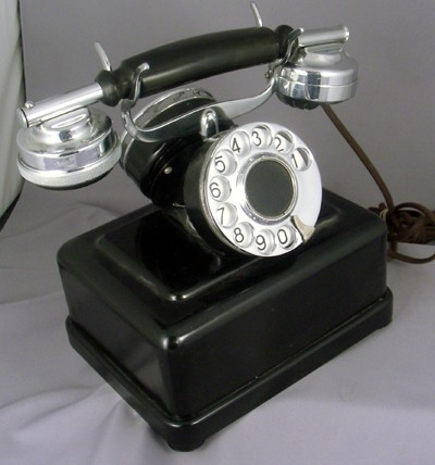 Partner's 2 Dial Telephone- Chrome Trim