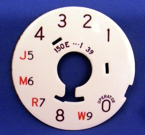 Western Electric 150e Dial Plate - Restored