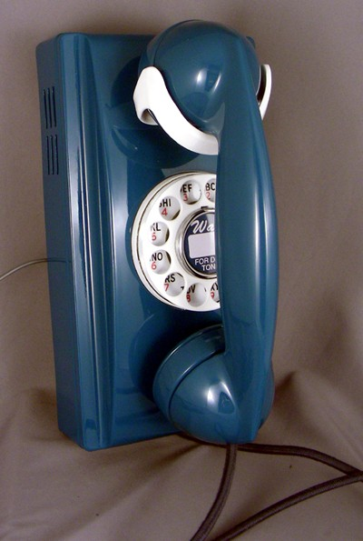 Custom Blue 354 Wall Phone