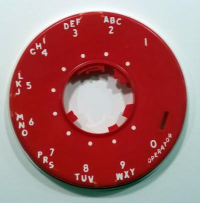 Western Electric 500/554 Dial Bezel - Bright Red