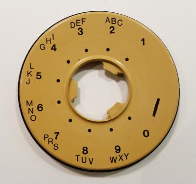 Western Electric 500/554 Dial Bezel, Harvest Gold