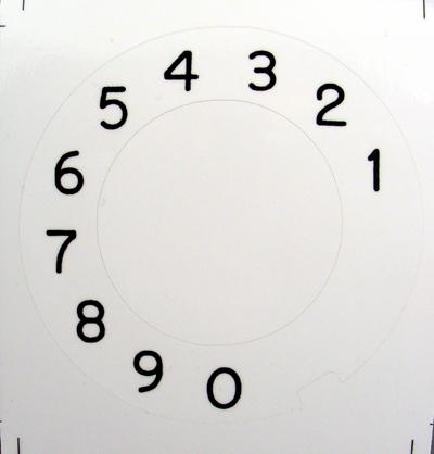 Automatic Electric Numeric Dial Plate Overlay