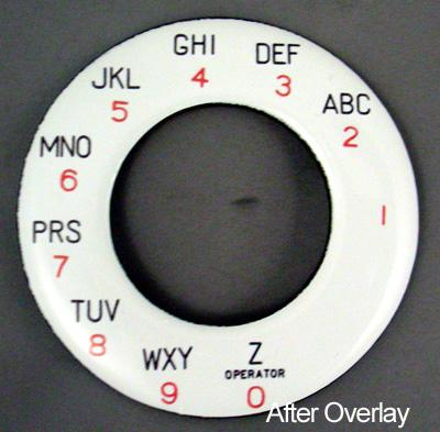 North Electric Alphanumeric Dial Plate Overlay