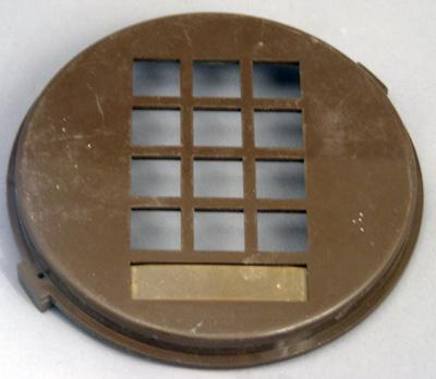 Western Electric 3554 Dial Faceplate - Brown