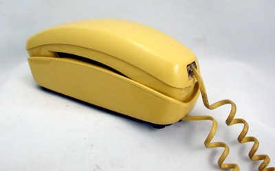 Yellow Trimline Touch Tone - Wall Phone