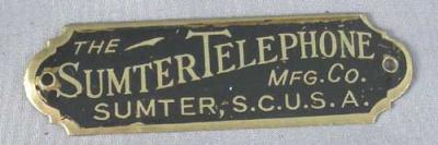 Sumter Telephone Badge