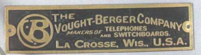 Vought-Berger Company Badge