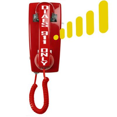 5501 Auto-Dial 911 Wall Phone