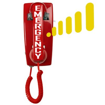 5501 Auto-Dial Emergency Wall Phone