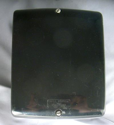 Western Electric 687 ringer box cover - black