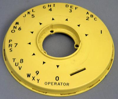 Automatic Electric 80 Dial Faceplate - Yellow