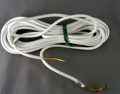 White Line Cord - Spade to Spade - 3 Conductor - Round