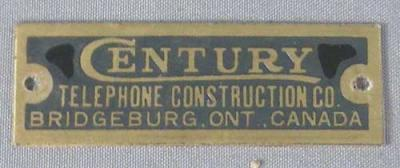 Century Telephone Badge