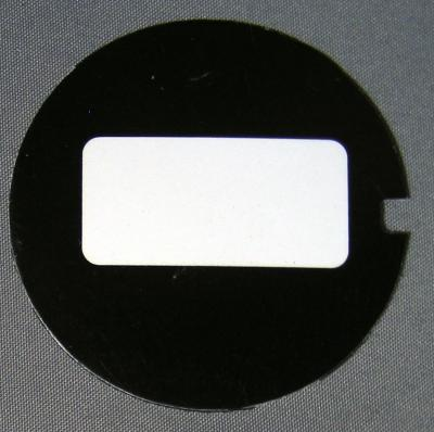 Western Electric Dial Card - Plain Black