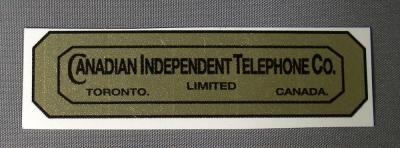 Canadian Independant Telephone Co Water Decal