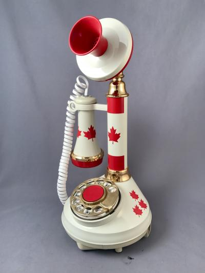 The Canadian Flag Candlestick Phone