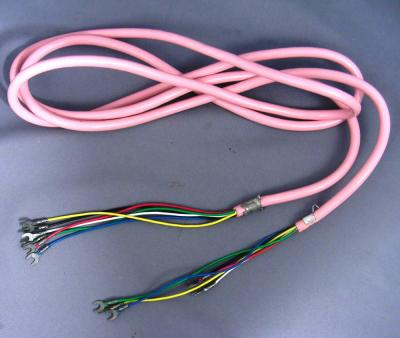 Pink Line Cord - Spade to Spade - 6 Conductor - Round