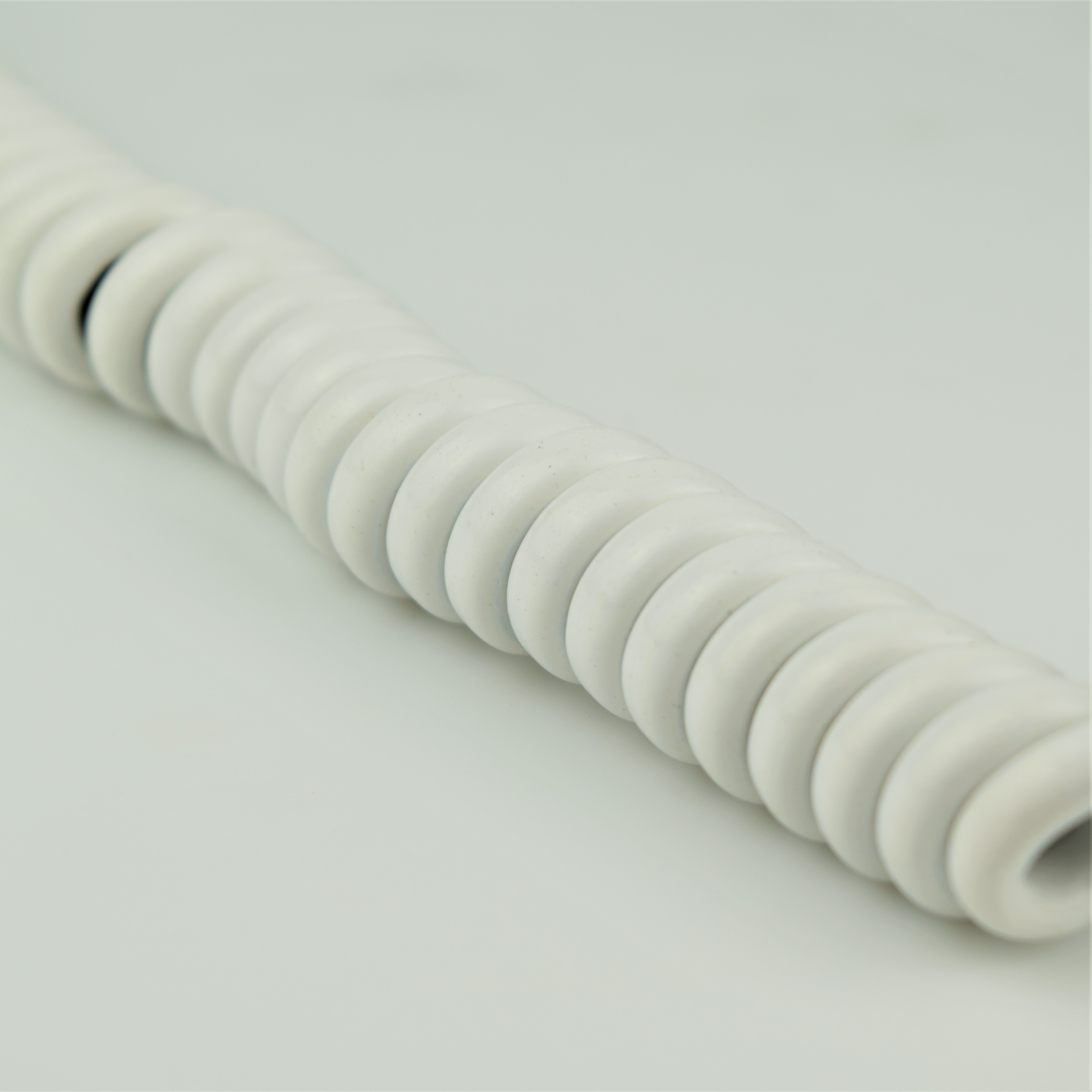 White - Hardwired Curly - 4 Conductor