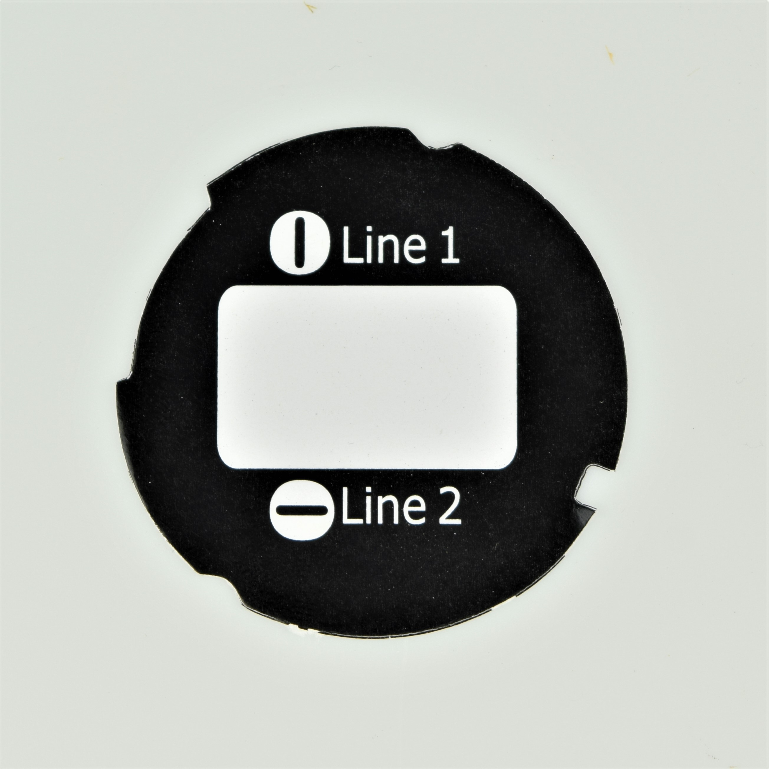 Automatic Electric Dial Card - 2 Line