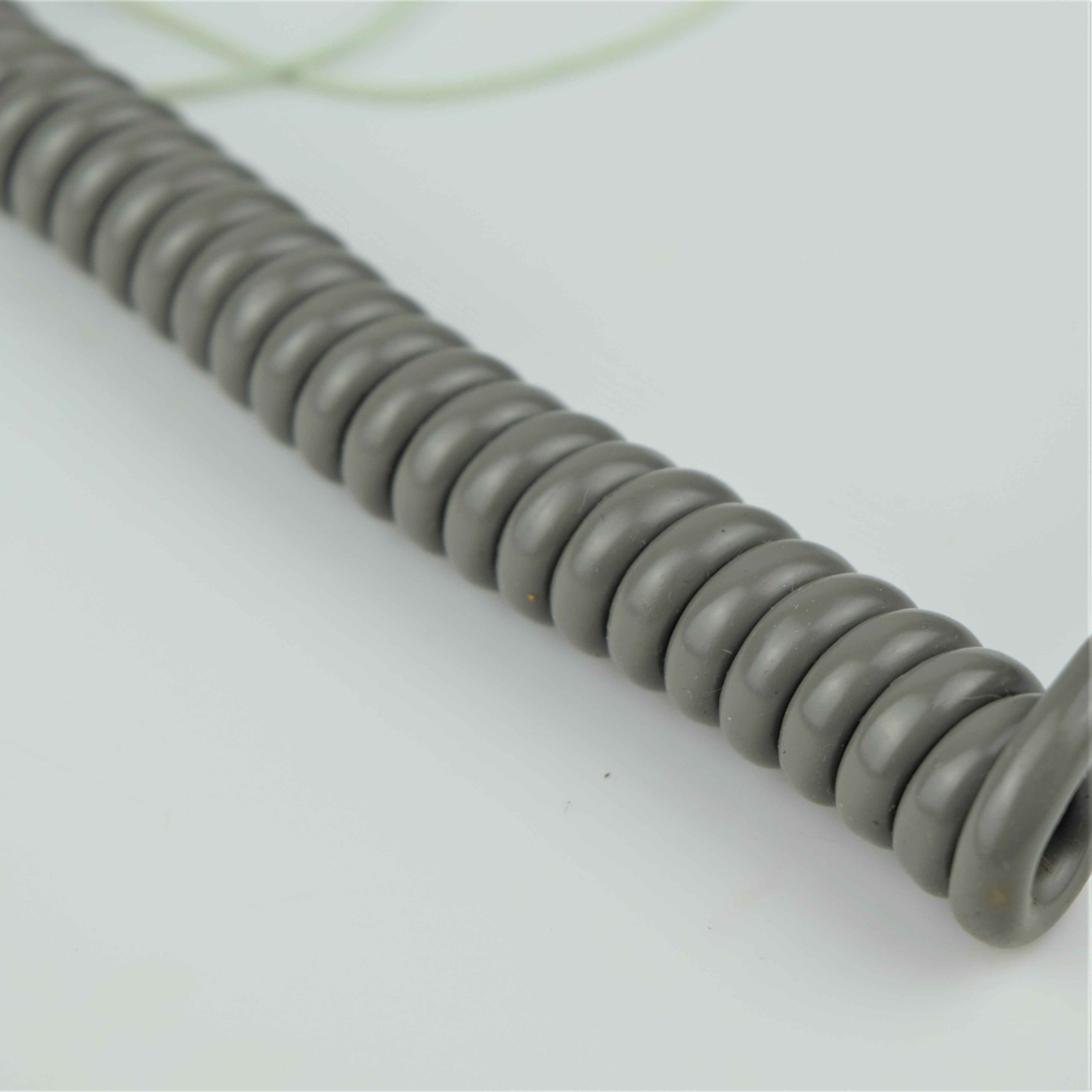 Grey - Hardwired Curly - 4 Conductor