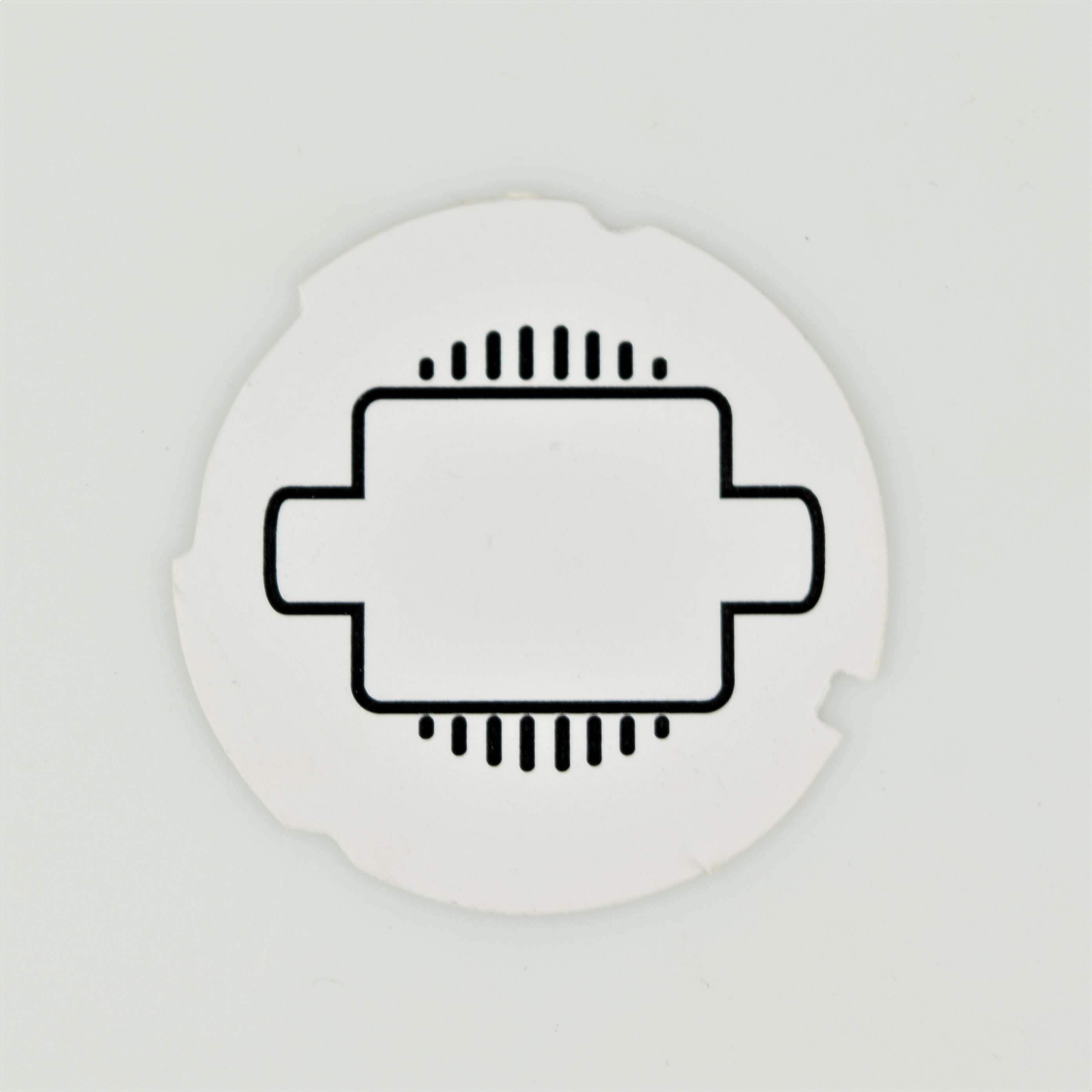 Automatic Electric Dial Card - White Square