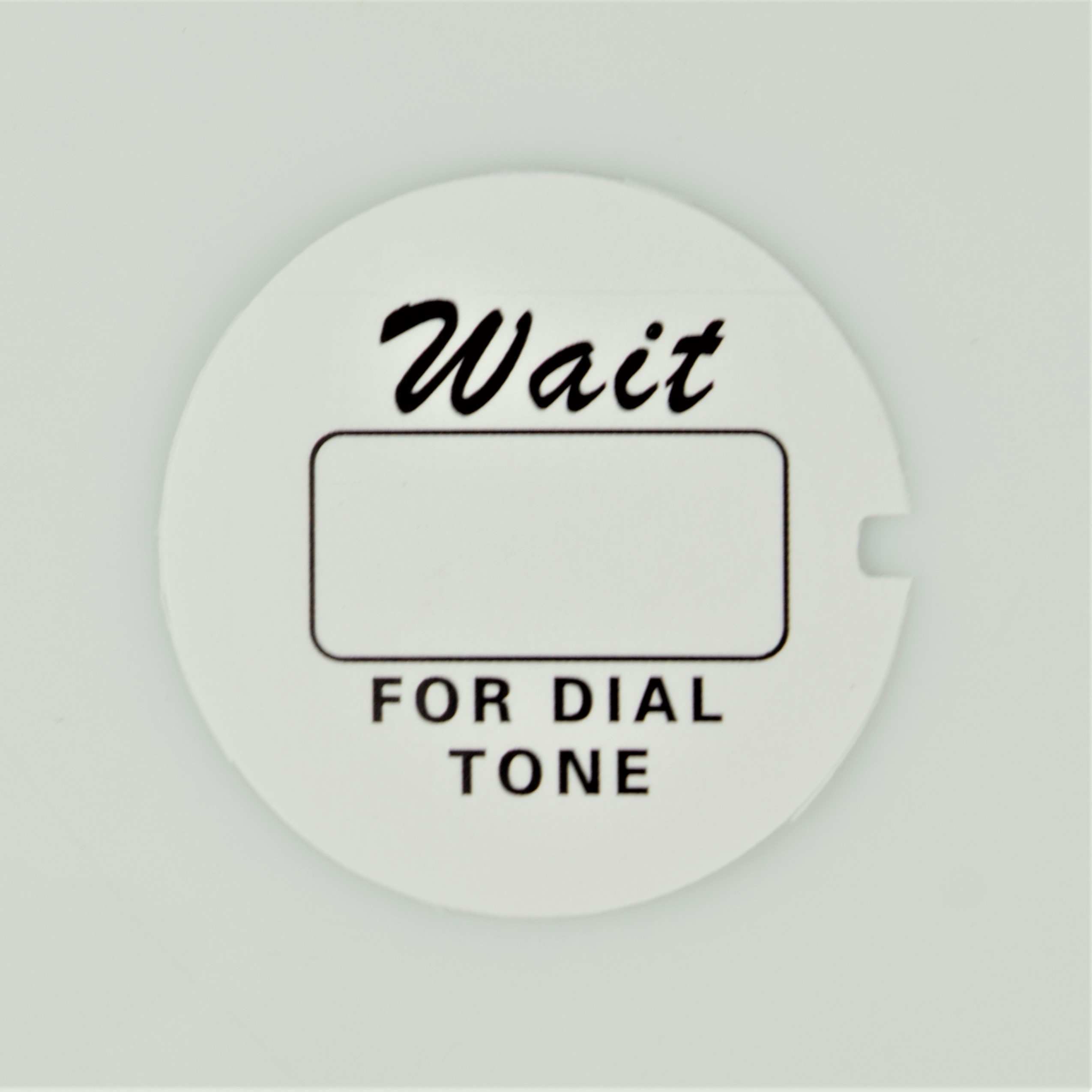 Western Electric Dial Card - White - Script