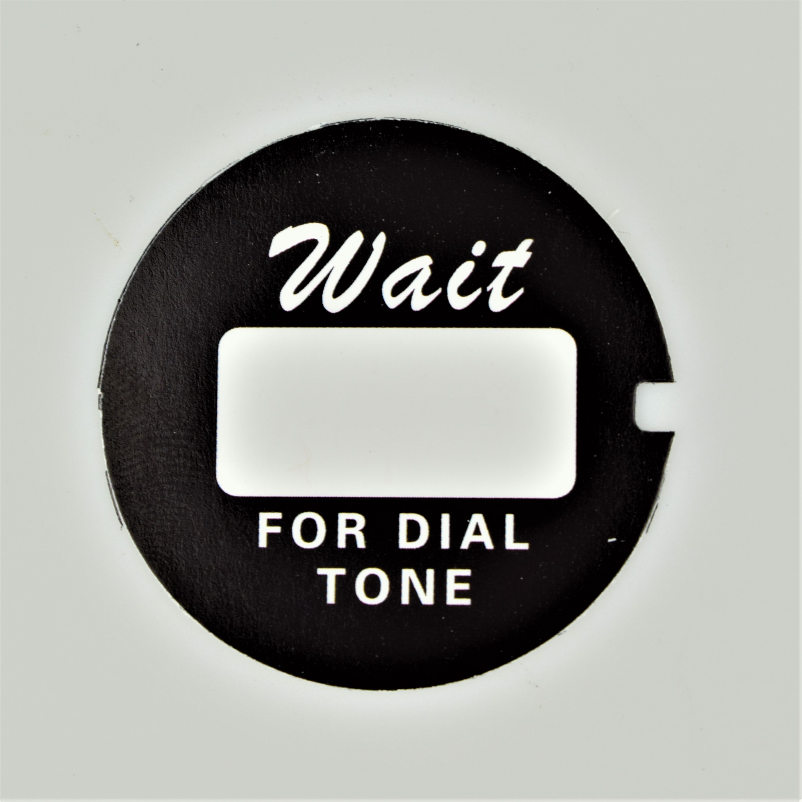 Western Electric Dial Card - Black - Script