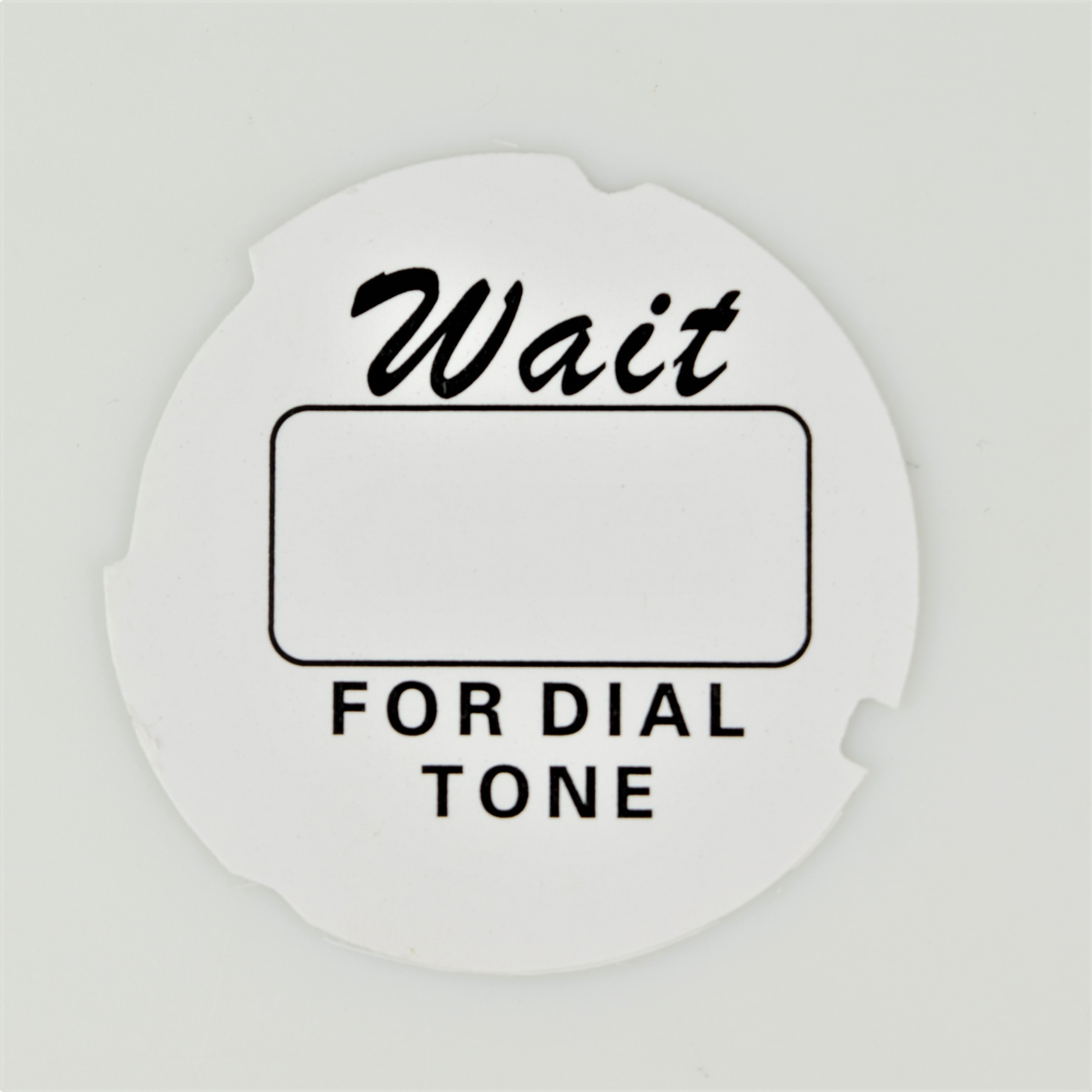 Automatic Electric Dial Card - Script - White