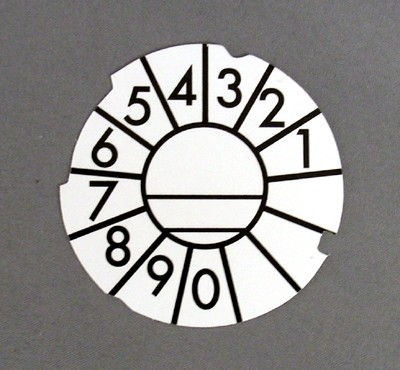 Automatic Electric Dial Card - White - Numeric
