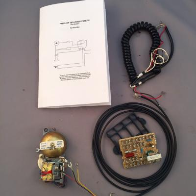 Network Upgrade Kit - Handset Style Phones - Black Vinyl Cords with Wiring Instruction Book