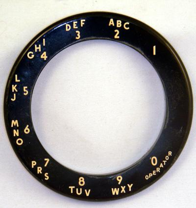 Western Electric Alphanumeric Number Ring for 5302  - Black