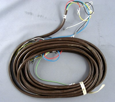 Brown Line Cord - Spade to Spade - 6 Conductor - Round
