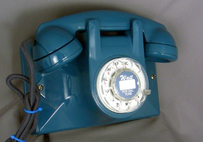 No. 2 Wall Phone - Blue Finish