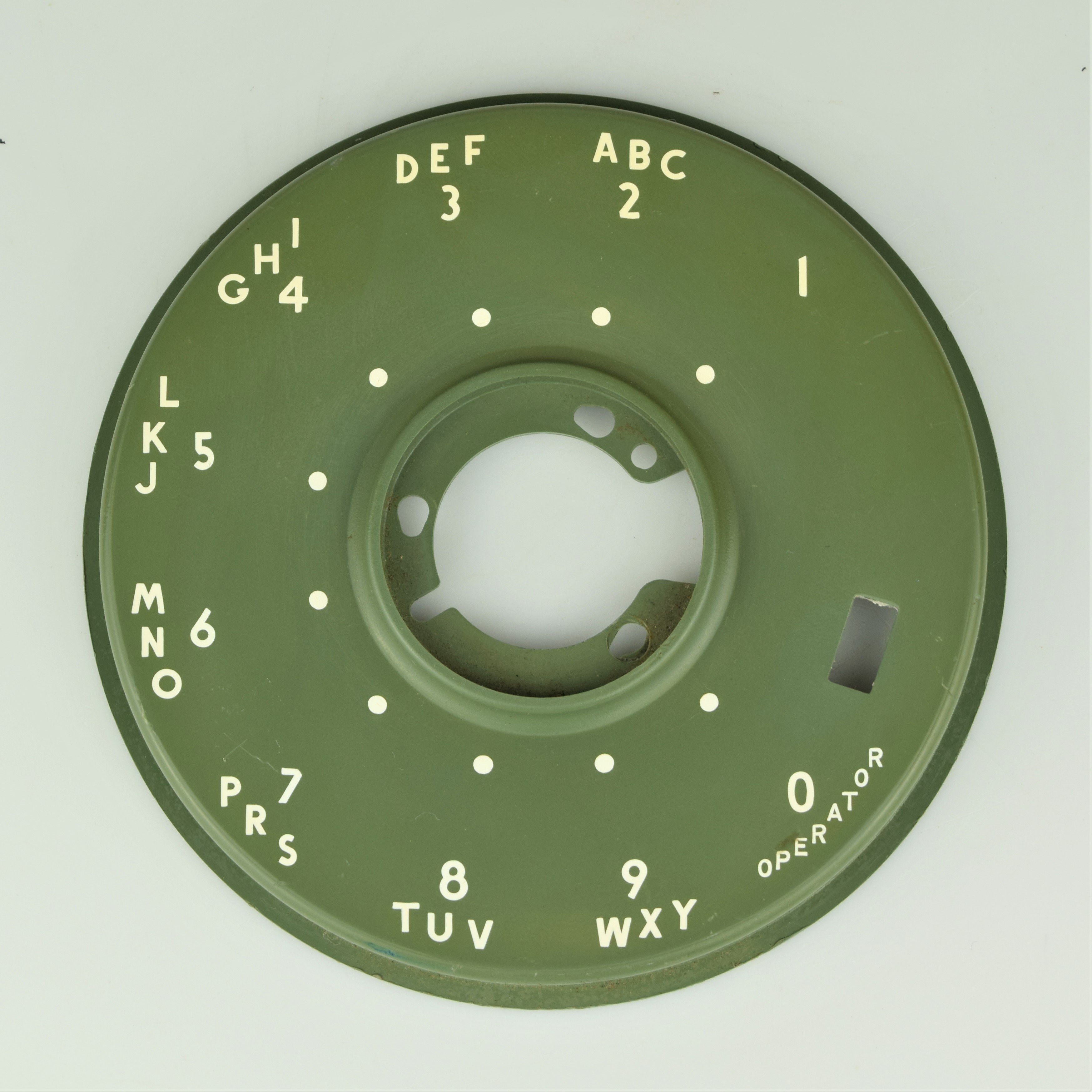 Western Electric 500 Series Dial Faceplate - Green
