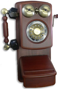 Country Wood Phone - Mahogany