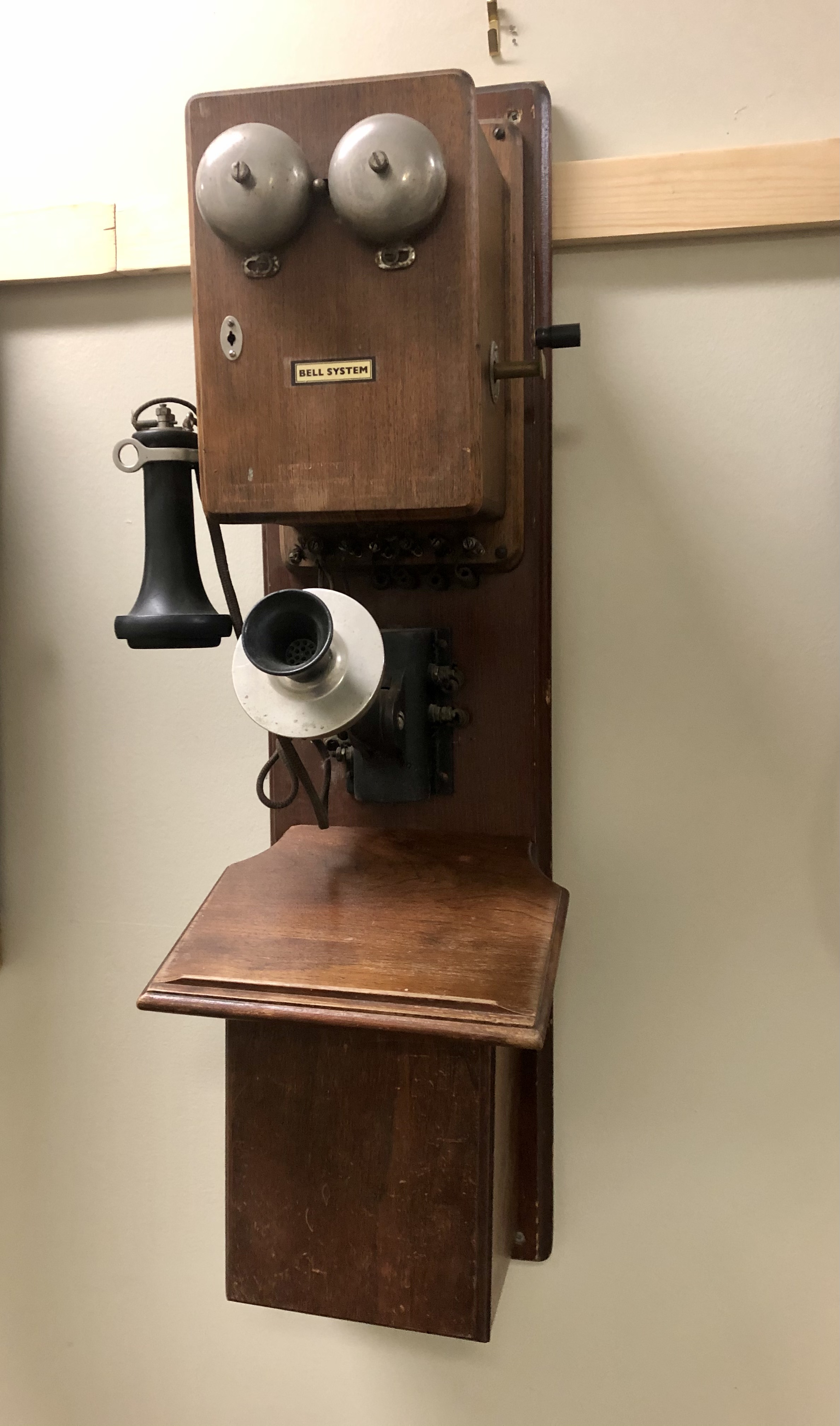 Chicago Telephone Supply Company Wood Wall Phone - Two Box w/ OST Receiver
