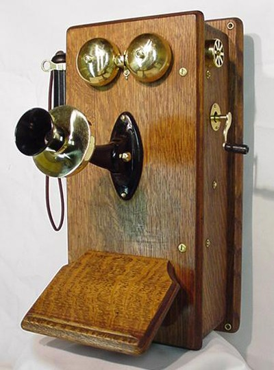 Stromberg Carlson Wood Wall Telephone