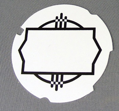 Automatic Electric Dial Card - White
