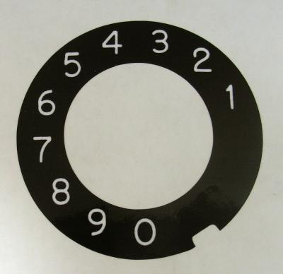 Automatic Electric Dial Plate Overlay - Military Black with White