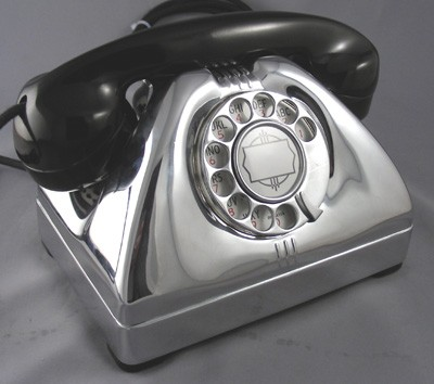 TP-6-A Vintage Telephone - Chrome Edition