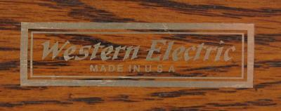 Water Decal - Western Electric - Gold Only Colour Scheme