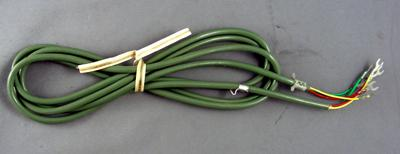 Green Line Cord - Spade to Spade - 3 Conductor - Round
