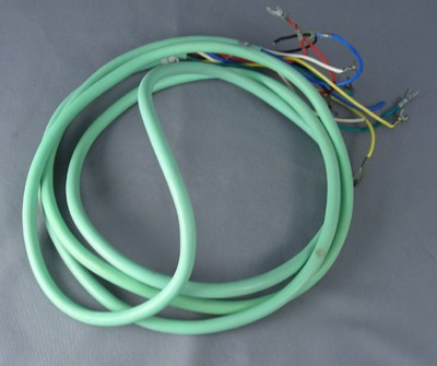 Turquoise Line Cord - Spade to Spade - 5 Conductor - Round