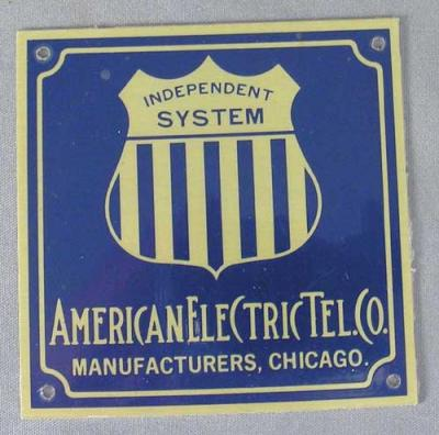 American Electric Telephone Company Badge