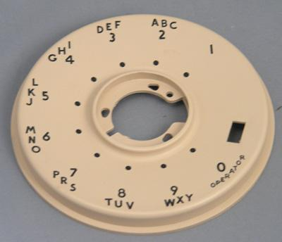 Western Electric 500 Series Dial Faceplate - Beige