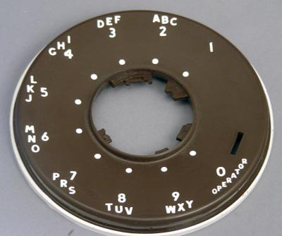 Western Electric 500 Series Dial Faceplate - Brown
