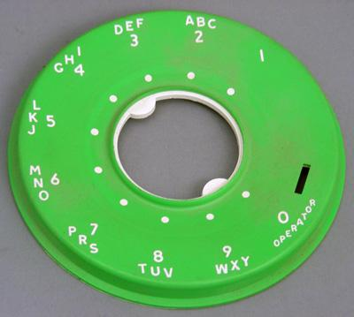 Western Electric 500 Series Dial Faceplate - Lime